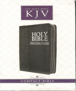 Holy Bible - KJV Compact Bible with Zipper (English)
